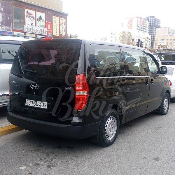 Hyundai H1 Black | Rent Car Baku, Car Hire Baku
