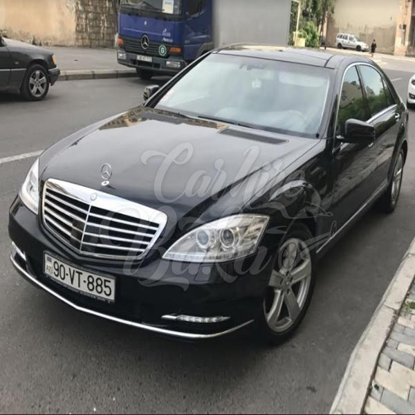 mercedes benz s class w221 vip class car hire in baku. Black Bedroom Furniture Sets. Home Design Ideas