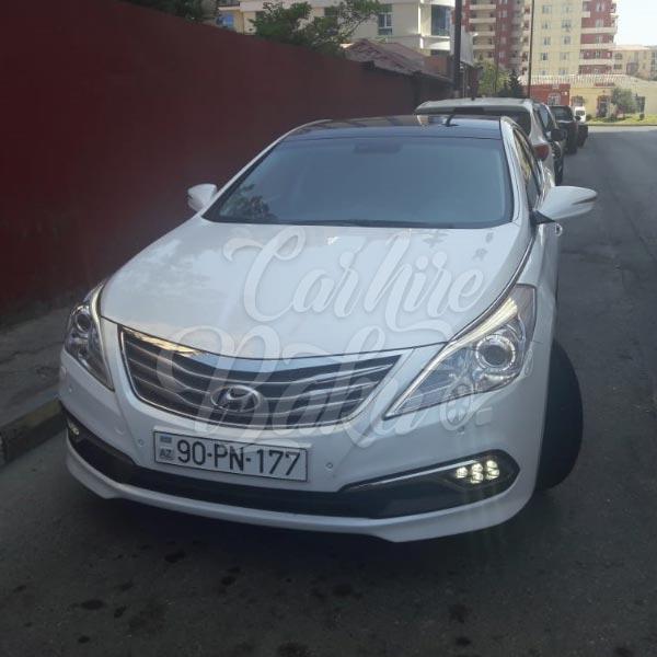 Hyundai Grandeur / car rental Baku / avtomobil kirayesi / аренда машин в Баку
