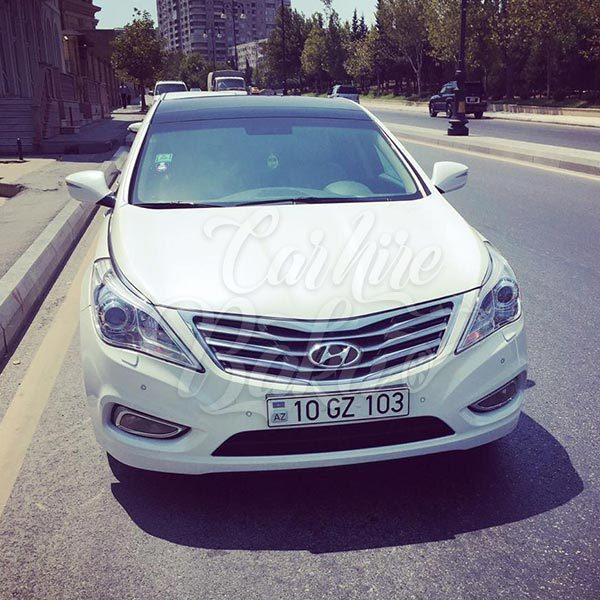 Hyundai Grandeur / car rental Baku / avtomobil kirayesi / аренда машин в Баку / 01112018