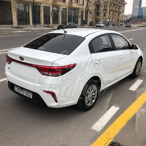 Current Kia Rio 2019 Red: Economy Class Hatchback For Rent In Baku, Azerbaijan